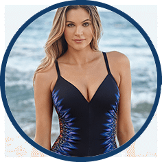 Control fabric swimsuit by Miraclesuit