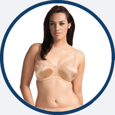 Elomi plus sized nude bra