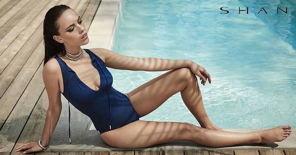 Designer swimsuit by Shan