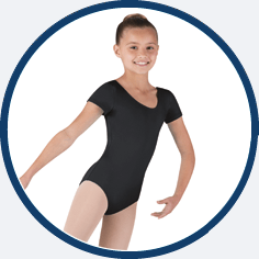 Black dance leotard