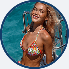 Sexy triangle bikini by Luli Fama