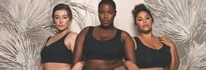 Wireless bras by Evelyn & Bobbie in black