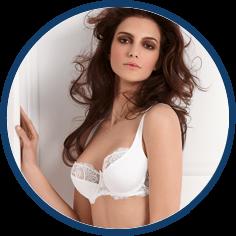 Antinea white lace bra